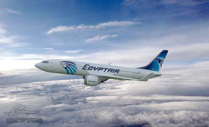 EgyptAir 3d Airplane 04 by osmanassem