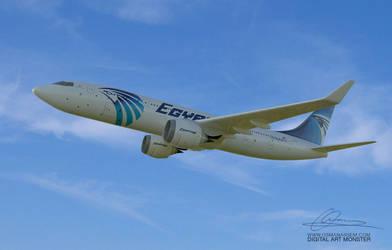 EgyptAir 3d Airplane 05 by osmanassem