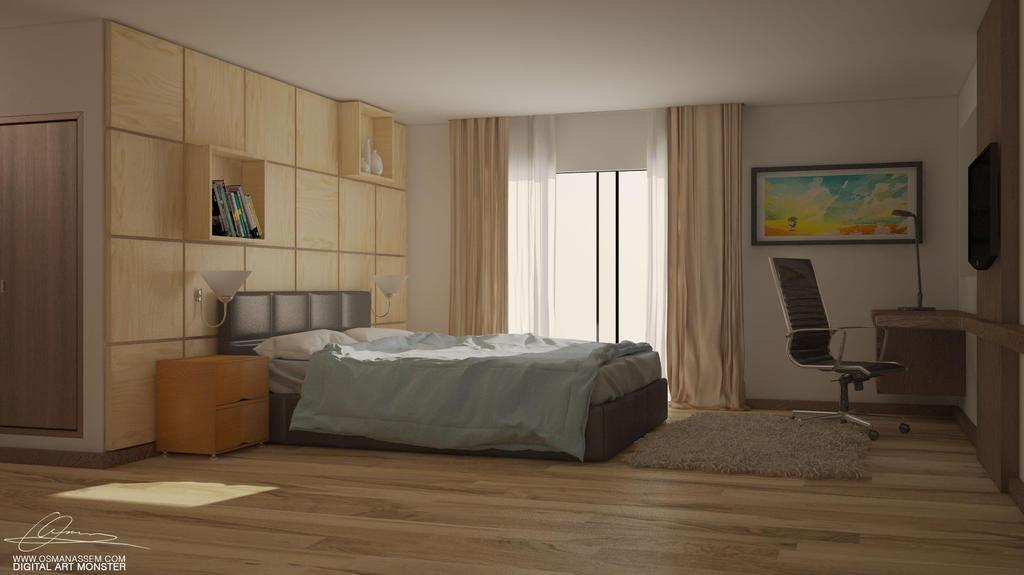 Modern Bedroom by osmanassem