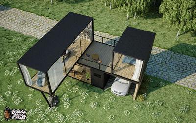Container House - Top View