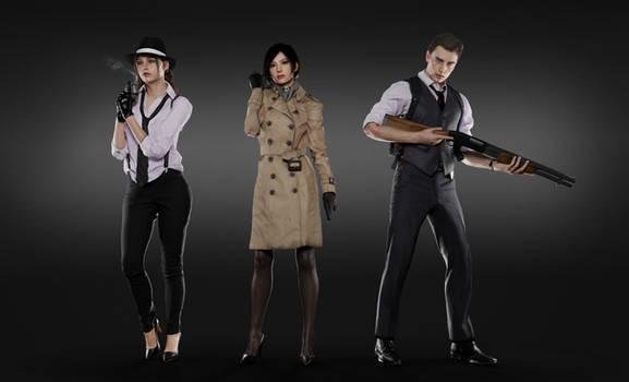 Noir Crew / Claire, Ada, Leon by MistFighter