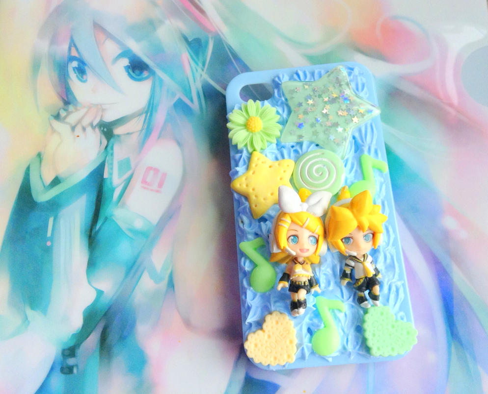 Vocaloid Kagamine Rin Len Iphone 4 4s Decoden Case By CreaBia