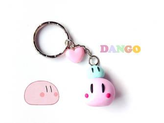 Anime Keychain Clannad Dango Polymer Clay Charm by CreaBia