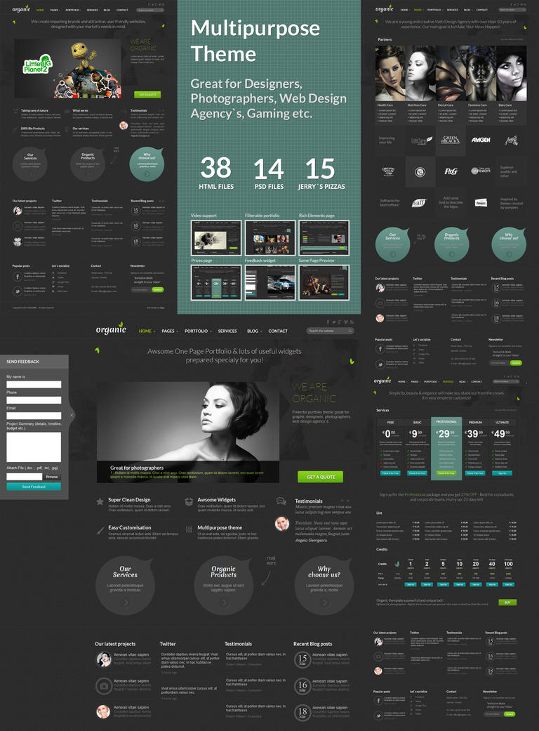 Organic Multipurpose Theme by DaJyDesigns