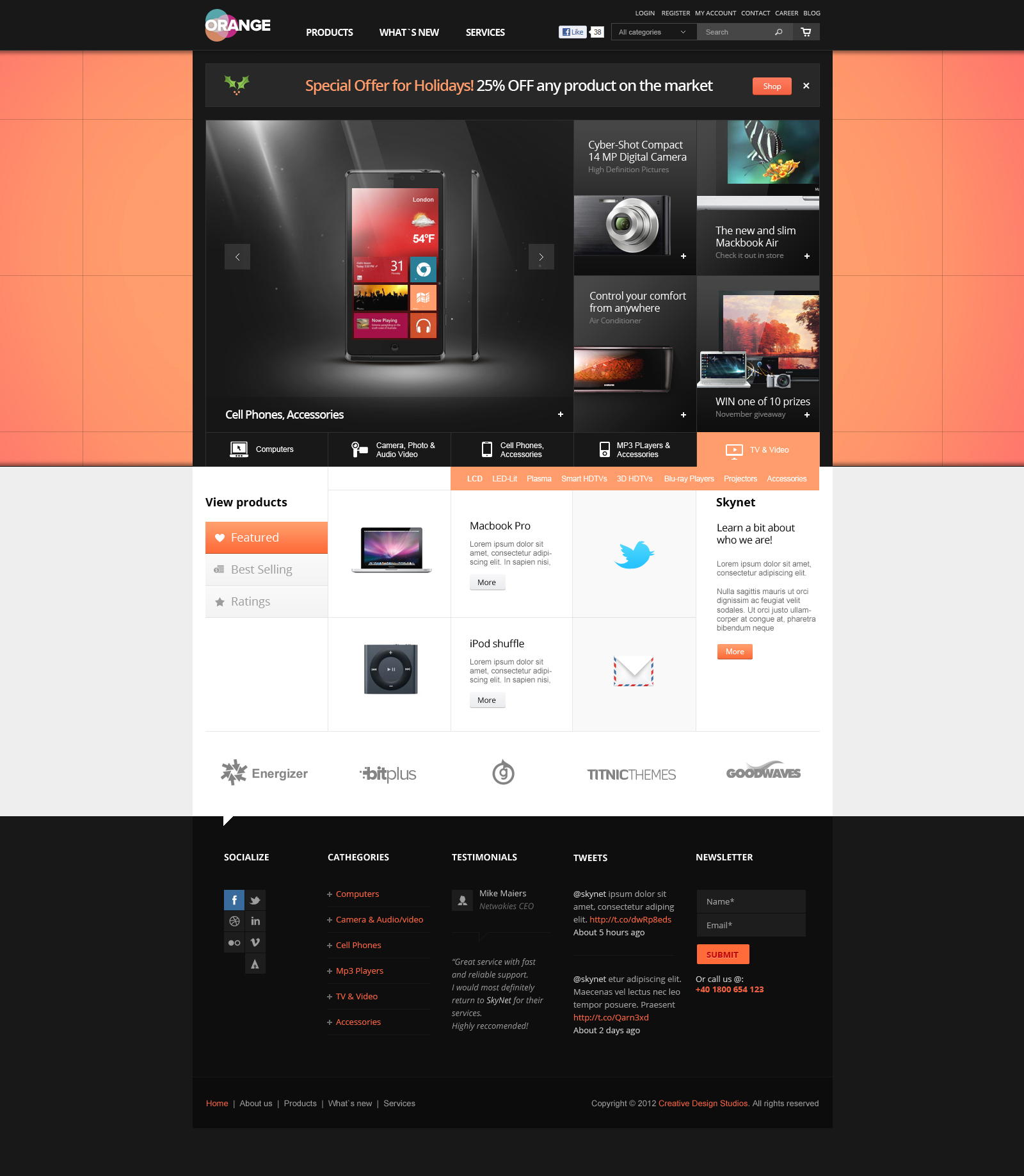Orange - eCommerce Multipurpose PSD Template by DaJyDesigns