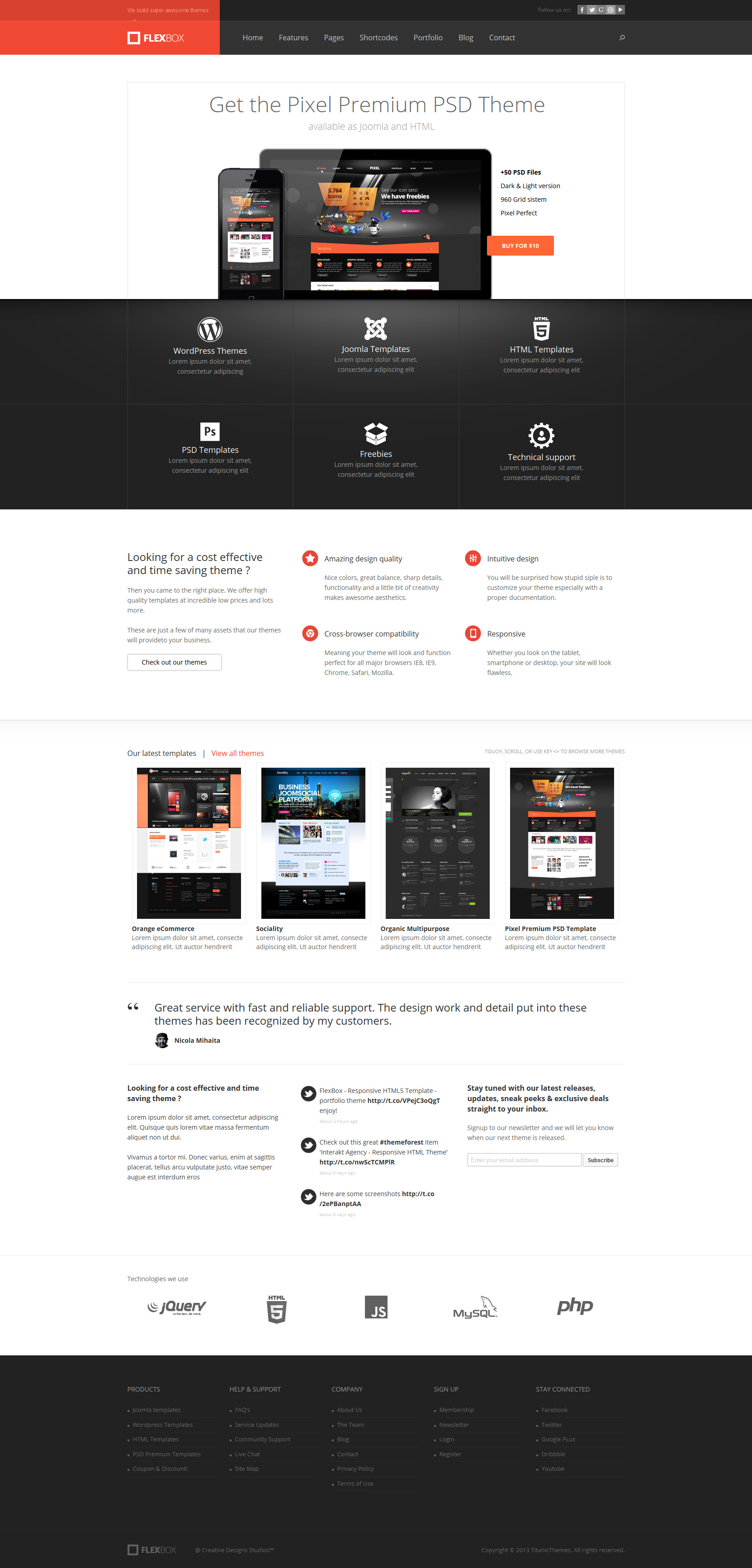 Flexbox - Responsive HTML5 Template by DaJyDesigns