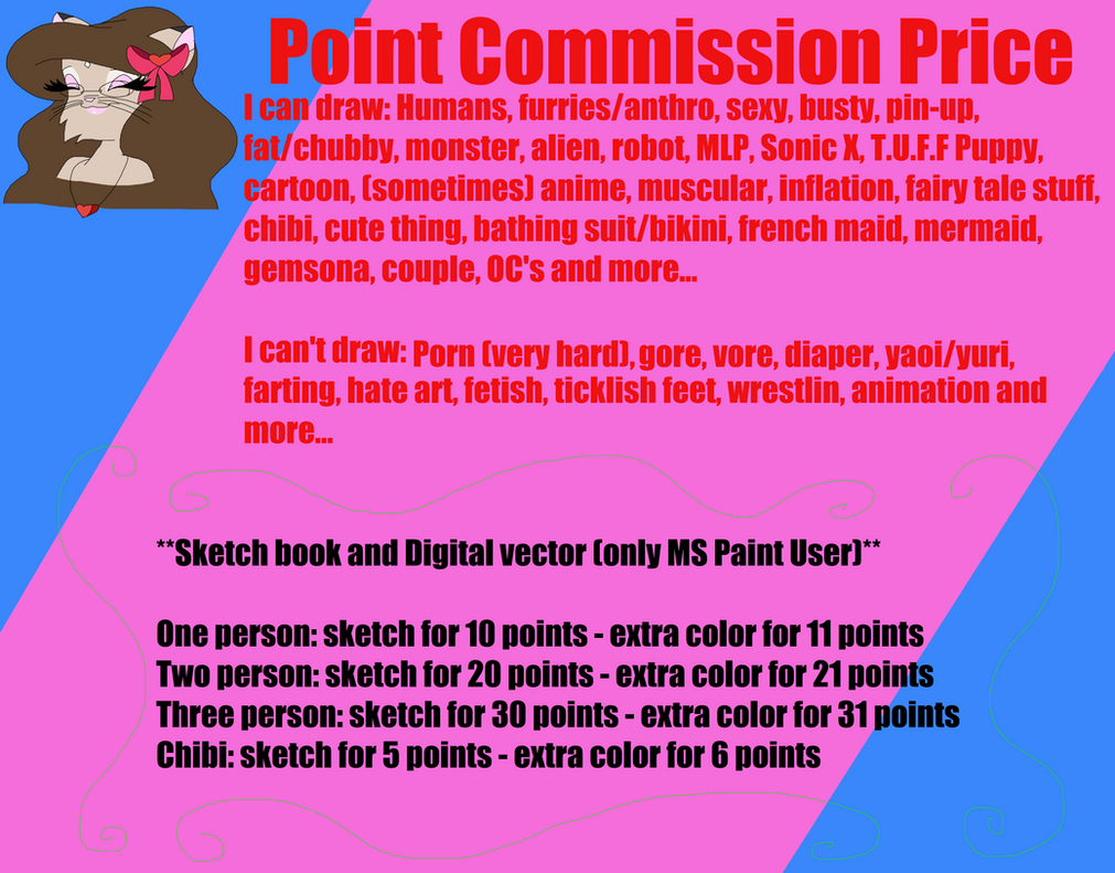 Point Commission Price by CottonCatTailToony