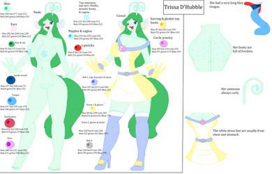 Trissa D'Hubble: Model Sheet by CottonCatTailToony