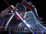 FA Toukenranbu : Taroutachi and Kousetsu  Samonji by JunichiroSama