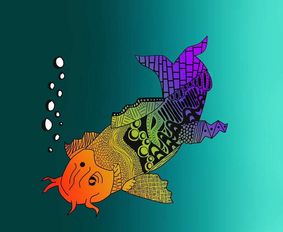 Rainbow koi by puppy 41 on deviantart for Rainbow koi fish