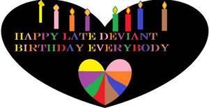 Happy Deviant Birthday by catdragon4