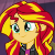 Sunset Shimmer Smiling Emotion.