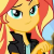 Sunset Shimmer Smirk Emoticon.