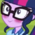 Sci-Twi Blushing Emoticon.