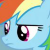Pony Rainbow Dash What Gives? Emoticon.