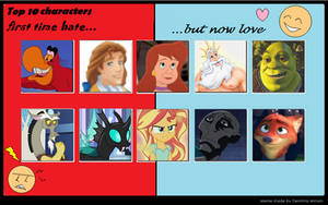:3 Top 10 Characters First Time Hate But Now Love.