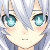 Noire Black Heart Blushing Emoticon. by catdragon4