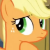 Pony Applejack Thinking Emoticon.