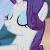 Pony Rarity Proud Emoticon.
