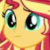 Human Sunset Shimmer Puzzled Emoticon.