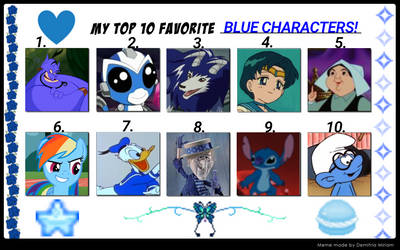 My Top 10 Favorite Blue Characters.
