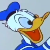 Donald Duck Smiling Emoticon.