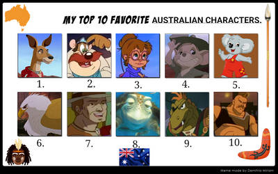 My Top 10 Favorite Australian Characters.