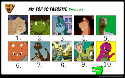 catdragon4's Top 10 Favorite Dinosaurs.