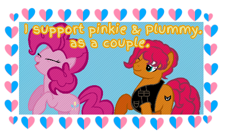 Plummy And Pinkie Stamp.