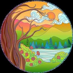 Nature Button.