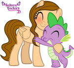 Melody And Spike Hugging Vector By SakuraStageANI.