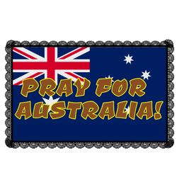 Pray For Australia Stamp.