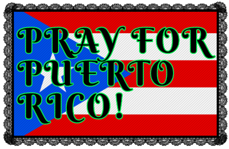 Pray For Puerto Rico Stamp.