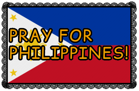 Pray For Philippines Stamp.