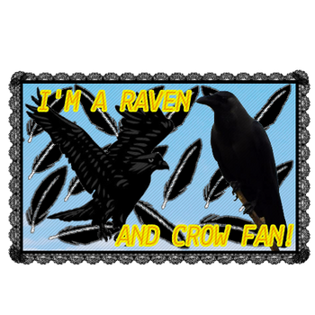 Crow And Raven Appreciation Stamp.