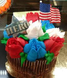 Memorial Day Cupcake.