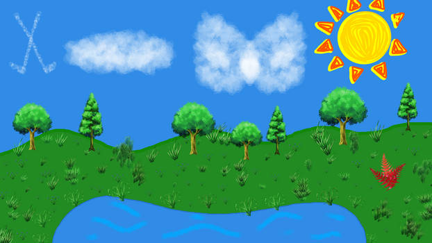 Meadow Landscape.