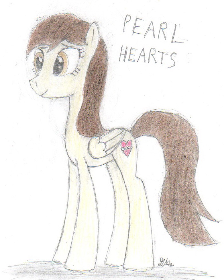 Pearl Hearts (MLP FIM OC) by BrogarArts