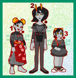 Adoptables Set 29 - Red Blood Fantrolls (OPEN)