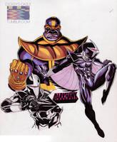 Thanos/ Darkhawk by RonAckins