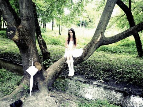 Laura on tree