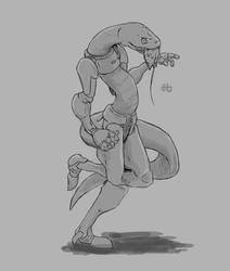 Concept sketch #01 - Cyber-Snake