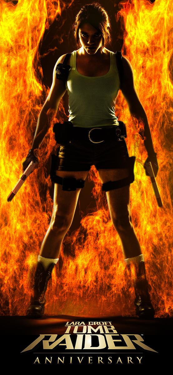 Lara Croft aka ImeldaCroft on Fire by Howlettjames1981