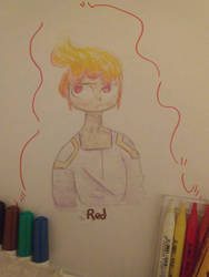 I drew with the art supplies my Friend gave me :D by SilverCandyDeath