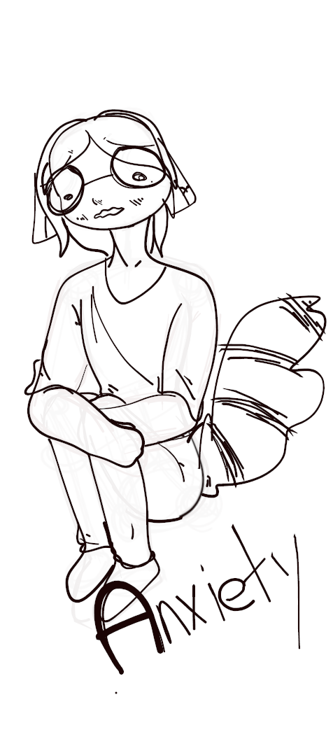 Anxiety doodle by SilverCandyDeath