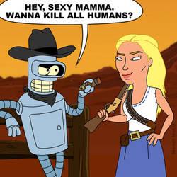 Westworld meets Futurama