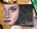 Watercolor: Kristen Stewart