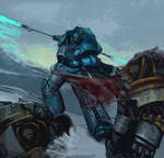 Alpharius Omegon - Primarch of the XX Legion.