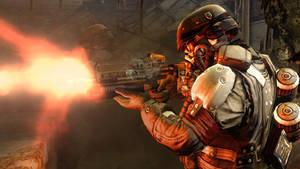 helghast soldier firing