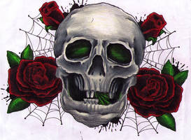 Skull and Roses by lights-are-out